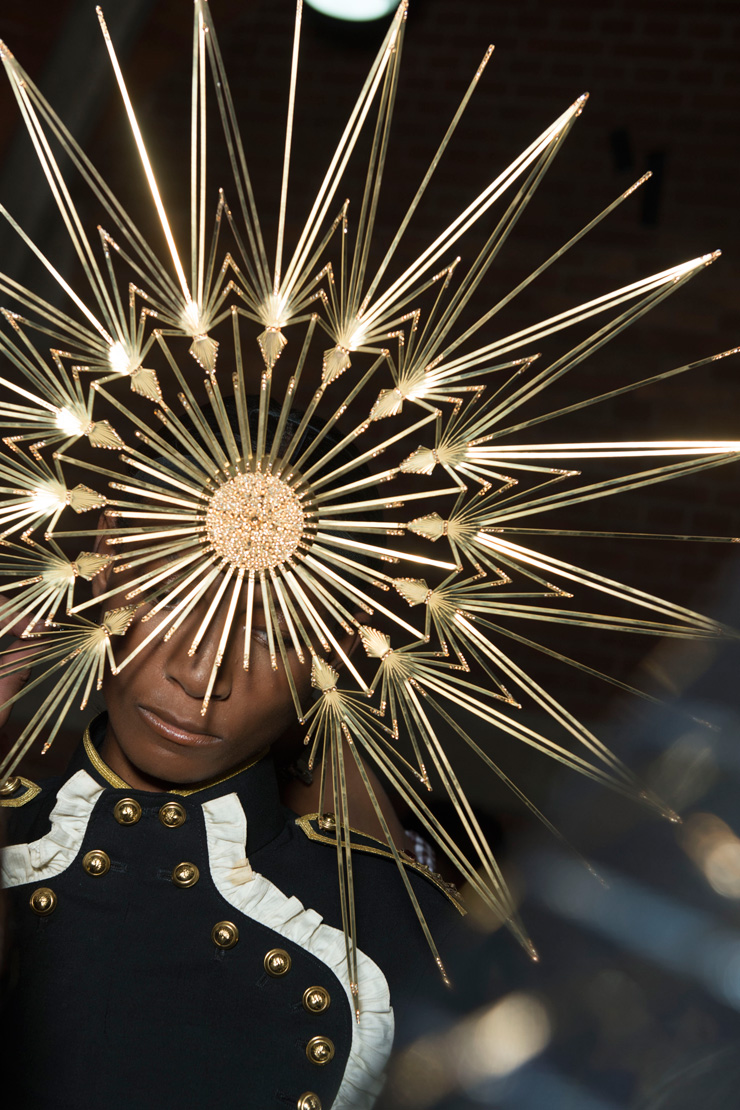 in detail philip treacy swarovski ss13