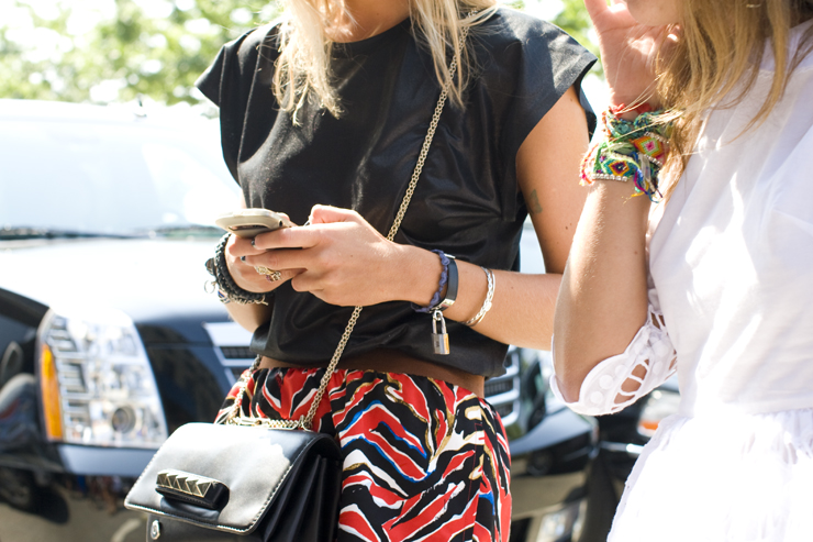 in detail NYFW S13 0637 Leather Wrap bracelets