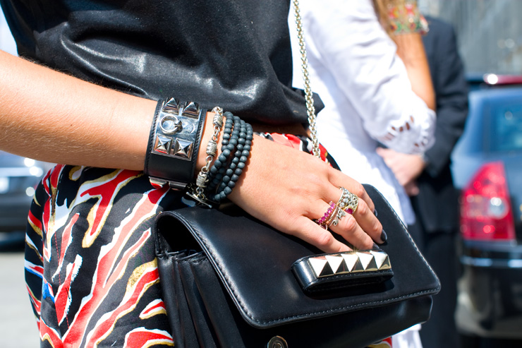 in detail NYFW S13 hermes cuff