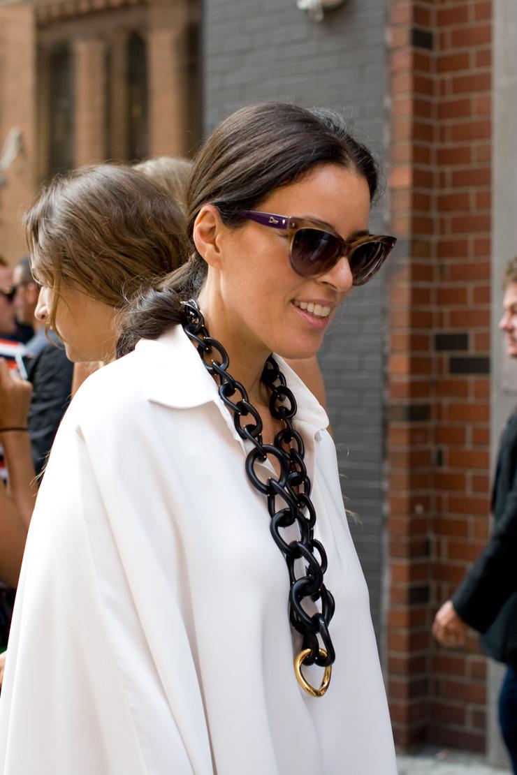 in detail chunky chain jewellery new york fashion week
