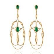 Fernando Jorge fluid diamond emerald cross earrings thumb 185x185 Fernando Jorge talks gold