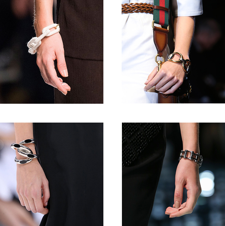 in detail catwalk SS15 the bracelet trend 01 THE REIGN OF THE BRACELET