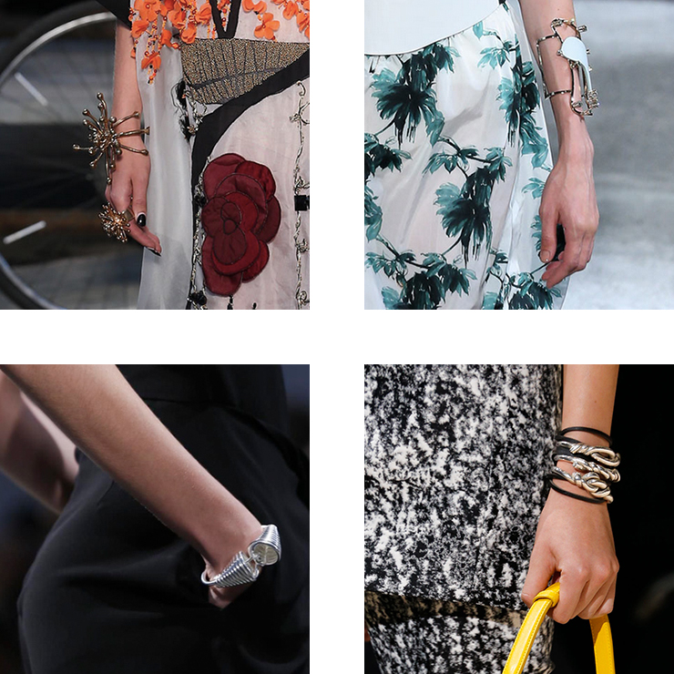 in detail catwalk trendS SS15 the bracelet 06 THE REIGN OF THE BRACELET