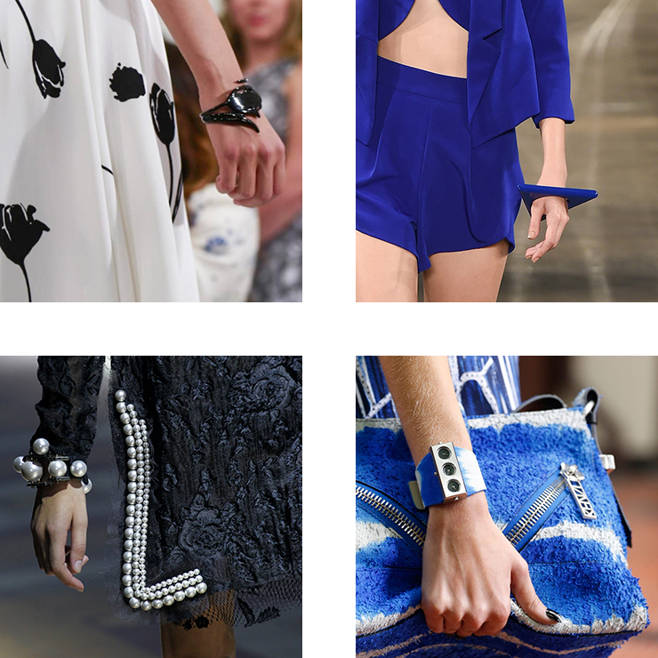 in detail catwalk trendS SS15 the bracelet 07 THE REIGN OF THE BRACELET