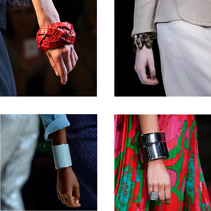 in detail catwalk trends ss15 the bracelet 03 THE REIGN OF THE BRACELET
