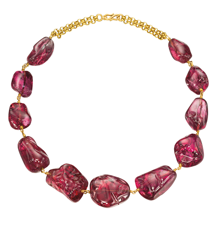 in detail imperial mughal spinel necklace GEMSTONE
