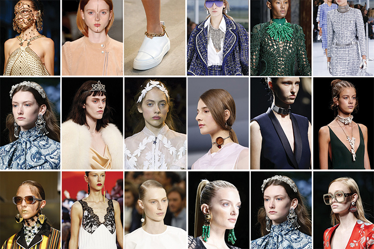 jewellery catwalk trends ss16
